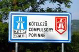Vignette (toll) stickers are required for Hungarian autobahns and are controlled by camera