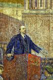 Moscow metro Prospekt Mira station mosaic of Lenin from the 1930's
