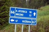Highway 66 to Brezno and Banská Bystrica