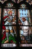 St. George stained glass window, Banská Štiavnica