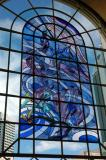 Stained glass, upper level, Murrary Street Arcade