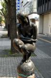 Public art along Otemae-dori