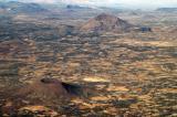 Two volcanic cones near Sana'a, Yemen