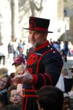 Yeoman Warder giving tour