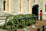 Cannons in front of the Waterloo Barracks