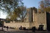 Exit from the Tower of London to the Thames-side promenade