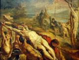 The Erection of the Cross, 1609-10, Peter Paul Rubens
