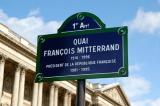 Quai François Mitterrand runs along the Seine past the Louvre