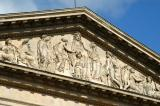 Triangular pediment and sculpted tympanum of the Louvre Colonnade