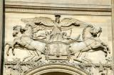 Bas-relief sculpture over the eastern entrance to the Louvre