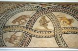 Mosaic fragment with animals in a lattice of garland, 4th C. AD, Sousse, Tunisia