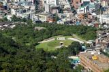Parkland at the base of Namsan Mountain
