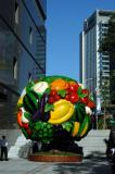 Giant fruit bowl at a new department store