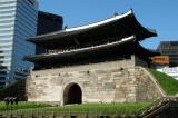 Sungnyemun, the main gate to Seoul, first built in 1398, rebuilt 1448