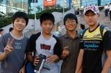 Korean schoolboys who interviewed me for an English project