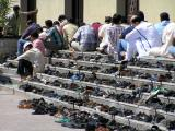 Shoes outside the mosque during Friday prayers, Bur Dubai