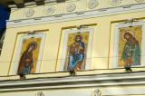 Mosaics on the church, located just west of the Prospkt Mira metro station