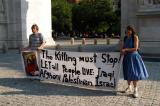 Anti-war protesters, Washington Square