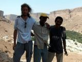 from Right Christian Bota Solomon on the middle. and driver Damari, at Way to Al-Mukalla
