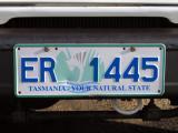 Tasman license plate spotted on mainland Australia