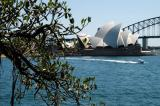 Sydney Opera House and Harbor Bridge from Mrs Macquarie's Point