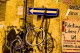 Roma, la bici viola
