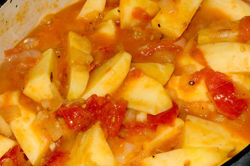 greek potatoes prep