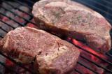 ribeye steaks grilling