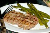 grilled ribeye and asparagus