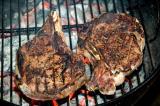 ribeye steaks on grill 24 july 2005
