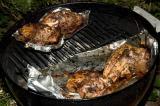 grilled split chicken breasts