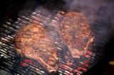 ribeye steaks on grill 18 august 2005