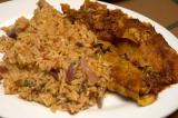 enchiladas and mexican rice