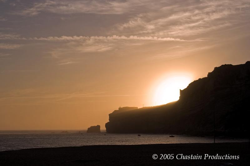 Nazaré Beach at Dawn