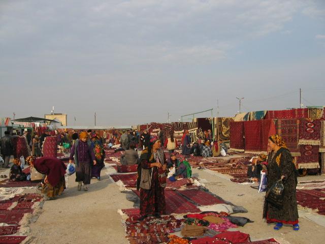 View of carpet market