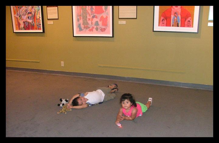 Angel and Alina first gallery trip at Plaza de La Raza in LA.