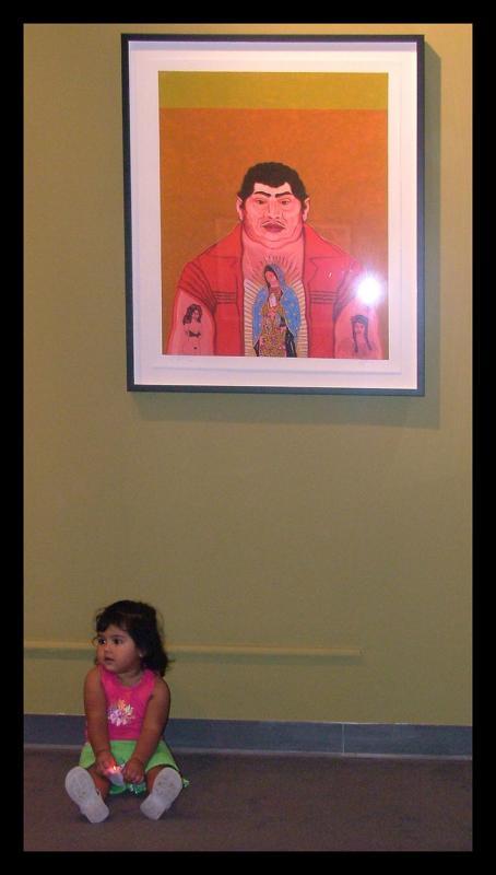 alina at the gallery