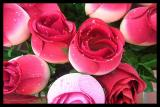 Red Fabric Rose Buds