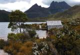 Cradle Mountain and Dove Lake with hut