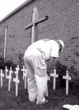 Chito sets up the memorial