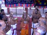 HH being welcomed (Dr. MAV svami with poorNakumbham)