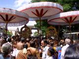 Both the emperumans about to receive Mariyadai infront of Devapperumal sannidhi