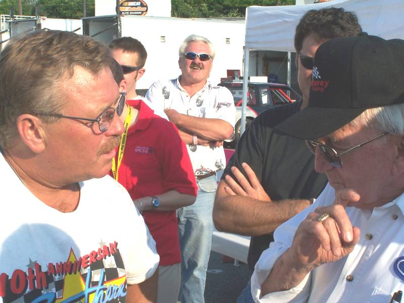 Tony Formosa and Junie Donlavey with Steve Cavanah in background.