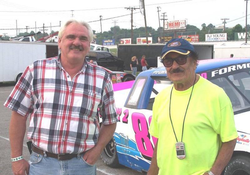Nashville Fairgrounds Speedway July 2005 Steve Cavanah and Tony Formosa