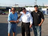 Ready to race, Tony Formosa Sr and Junie Donlavey and Nicholas Formosa