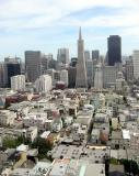 the TransAmerica tower in the center