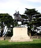 Joan of Arc near the Legion's entrance