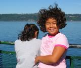 Sarah on ferry