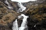 Waterfall along the Myrdal-Flam railway