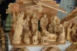 Carved nativity scene at a souvenir shop